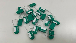 100 Green Tamper Evident Taplock Drop Cable Security Tag Fast shipping!!!