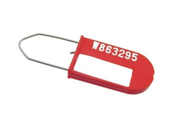 100 RED TAMPER EVIDENT TAPLOCK DROP CABLE SECURITY TAG Fast shipping!!!