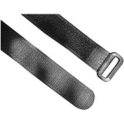 "18"" L Buckle Hook-&-Loop Cable Tie BK PK 10 TY-RAP(R) FOL500-50-0"