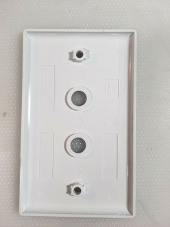 2 Hole Blank White Wall Plate V2D AN12021 Fast Shipping!!!