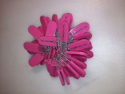 50 Pink Tamper Evident Taplock Drop Cable Security Tag Stamped Commercial