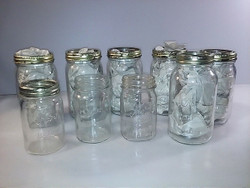 9 Kerr Canning Jars with some rings