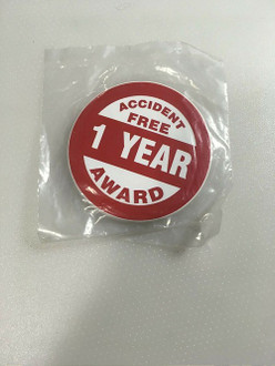 Accuform LHTL370 Accident Free 1 Year Award Decal/Sticker Pack of 10