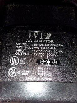 AC/AC adapter fit 120V ADC 600