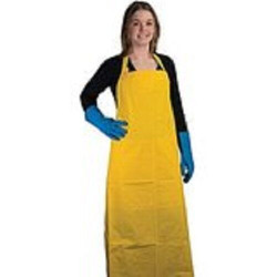 "ANSELL 33"" x 46"" PVC/Nylon Medium Duty Protective Yellow Apron"