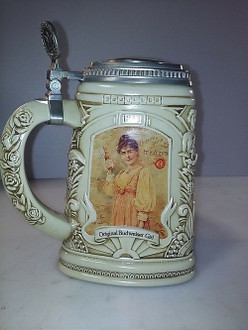 Anheuser-Busch Members Only Stein;1997; CB6; Budweiser Girls;Collectors Club