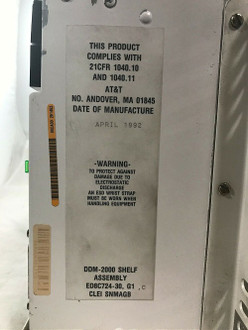 AT&T DDM 2000 SHELF ASSEMBLY W/ CARDS