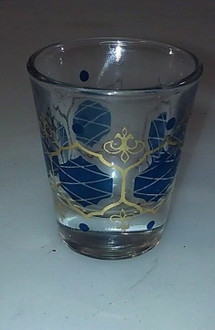 Blue Design Shot Glass