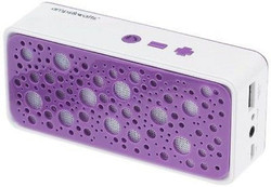 Bluetooth Wireless Portable Speaker with Power Bank and Mic Purple Fast Shipping