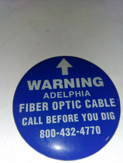 Buried Fiber optic Cable Before Digging Call Custom Sign CM-ADEL