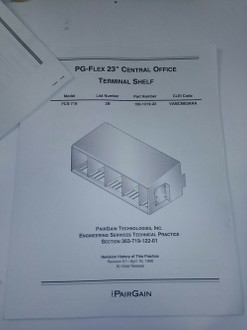 Central Office Terminal Shelf manual PG-FLEX-23