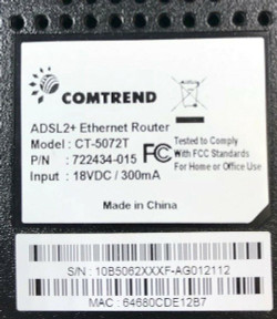 Comtrend Router CT-5072T