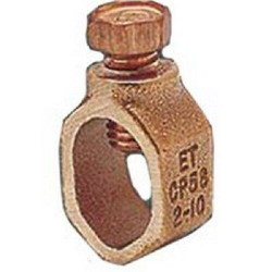 ERITECH CP58 Ground Rod Clamp, Rod Dia 5/8 In (Acorn)