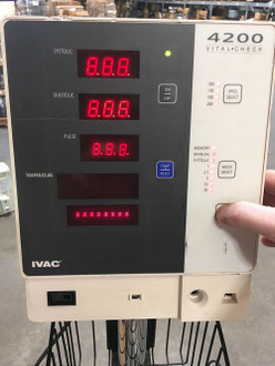 IVAC 4200 Vital Check Monitor W/ Stand