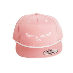 Kimes Ranch Western Hat Kids Adjustable Classic Flat Captain-Kimes-Youth Pink