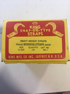 King 1/2 EMT Snap-On-Type Straps Cat. No TW-1 (Box of 100)
