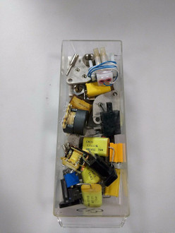 Miscellaneous Capacitors anfd other items . Whole Drawer for one price #F13