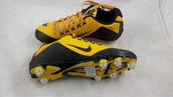 New Nike Alpha Pro 2 D Men's Football Cleats Black/Gold Fast Shipping!!!
