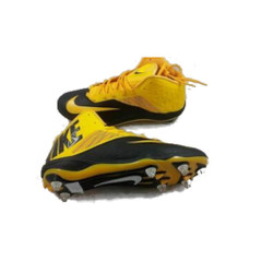 New Nike Zoom Code Elite 3/4 D Men's Football Cleats Black/Gold Fast Shipping!!!