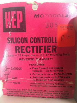 New Old Stock Motorola HEP 305 Silicon Controlled Rectifier