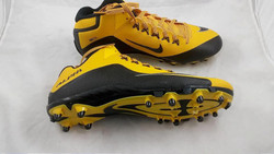 Nike Alpha Pro 2 3/4 TD Mens Football Cleats Black/Gold Fast shipping!!!