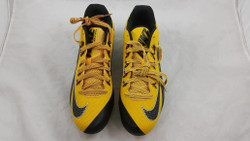 Nike Alpha Pro 2 TD Mens Football Cleats Black/Gold Fast shipping!!!