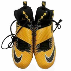 Nike Lunarbeast Pro TD Mens Football Cleats Black/Gold Fast Shipping!!!