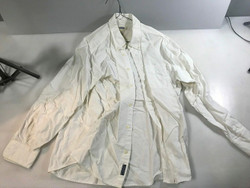 Old Navy White Button Up Long Sleeve Shirt Large
