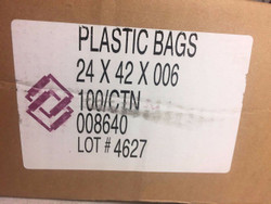 Poly Bags 24 X 42 X 006, Clear - Plastic Poly Bag Qty. 1 bag
