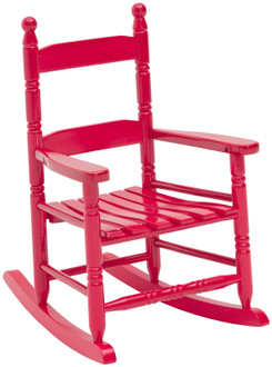 Hometown Holidays Child's Rocker Chair, Red, 22 In