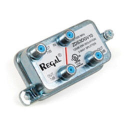Regal 5-1000 MHz ZDS3DGV10 120dB EMI Isolation 3-Way Splitter