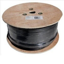 1000ft RG11 Aerial CABLE TV/SATELLITE Coaxial Messenger 3GHz PPC P11ET77V2PRF