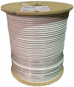 RG6 Tri Shield In House cable 1000 feet F677TSVV-Wht Commscope