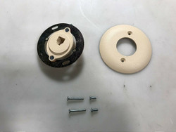 Suttle SE-625B2-4-50 (Round- RJ11) Wall Plate-Plastic Ivory