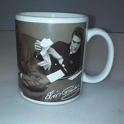 Used Elvis Presley Coffee Mug