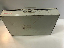 """Used White Weather Guard ToolBox 18""""x12""""x4"""" With Assorted Cable Items Inside"""