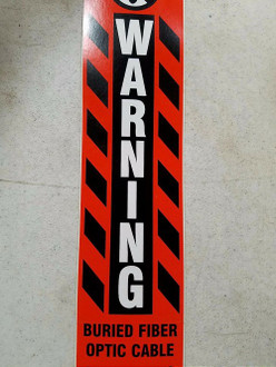 Warning Buried Fiber Optic Cable Sticker