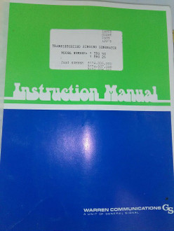 Warren communications Transistorized ringing gen manual 1-TRG-50