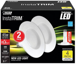 Feit Electric LEDR4/827/MED/2/R Retrofit Kit, Dimmable, Plastic