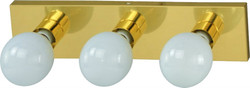 Boston Harbor Dimmable Vanity Light Fixture, (3) 100 W, Medium, Type G Lamp, Polished Brass