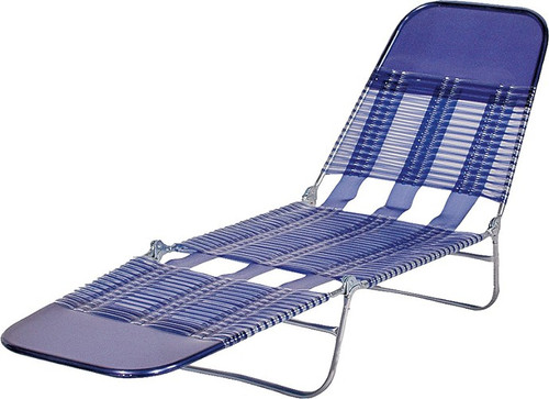 Folding Chaise Lounge Blue