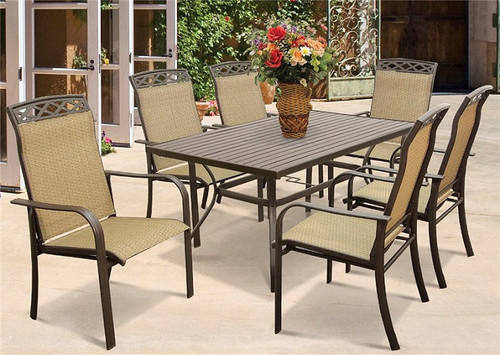 Outdoor Dining Table, 60 In W X 38 In H, Steel