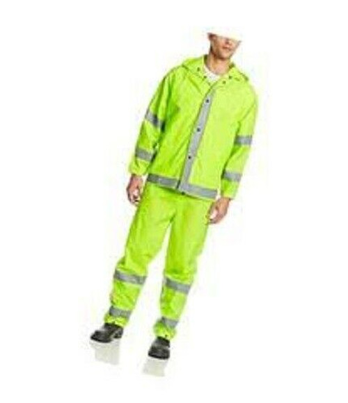 1820S Econo-Viz 3-piece Rainsuit with Reflective Tape 3XL