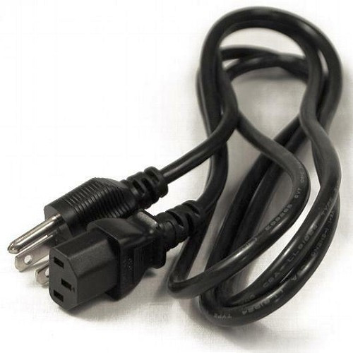 6 Ft 3-Prong Heavy Duty 18 AWG Trapezoid Computer Power Cord Universal PC