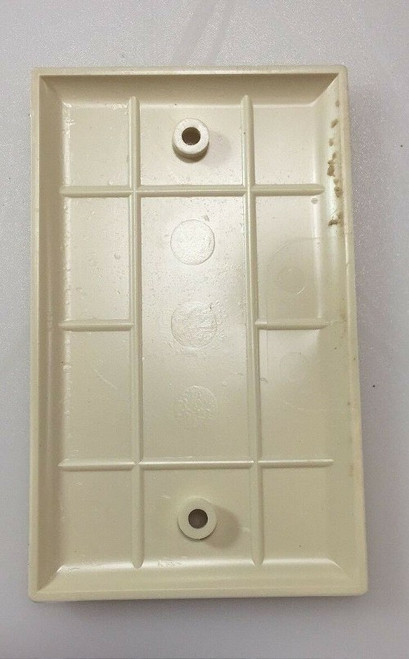 Blank Ivory Single Wall Plate Fast Shipping!!!