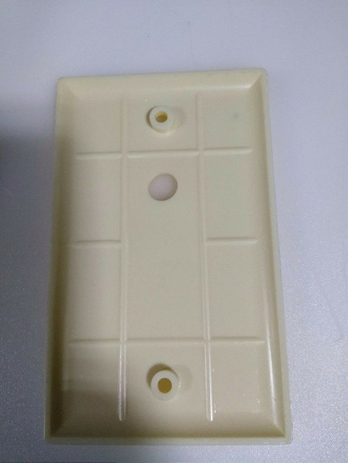 CABLE MAID INC. Off white Face plate off centered. WP-W(OFFSETCENTER)