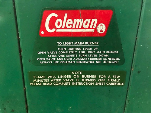 Coleman Stove 2 Burner -White Gas -4136 Model