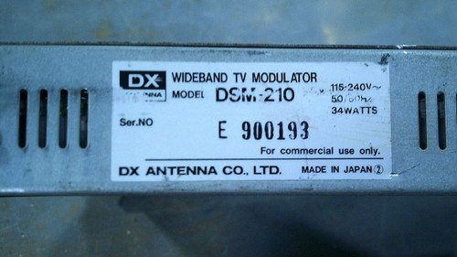 DX ANTENNA DSM-210 WIDEBAND TV MODULATOR