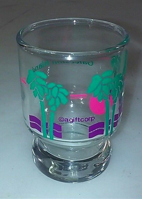 Galveston Island Palm Trees Shot Glass