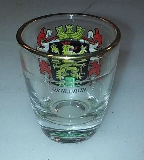 Heidelberg Gold Rimmed Shot Glass